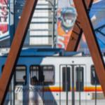 Denver Light Rail near Mile High Queener Law