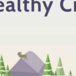 drawing of healthy city with stick figures in various activities Queener Law