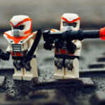 figurines with weapons