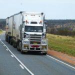 semi trailer on the desert highway Queener Law