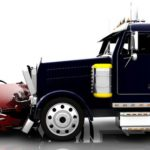 large semi truck rear ends smaller compact car Queener Law