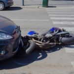 bad accident with motorcycle and compact car Queener Law